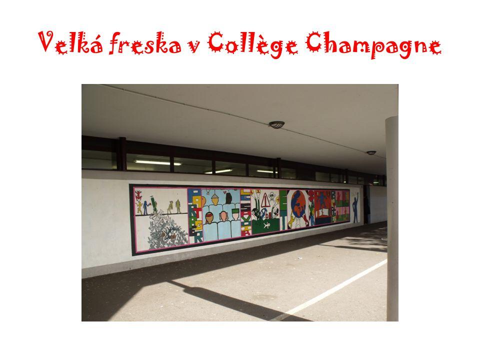 Velká freska v Collège Champagne
