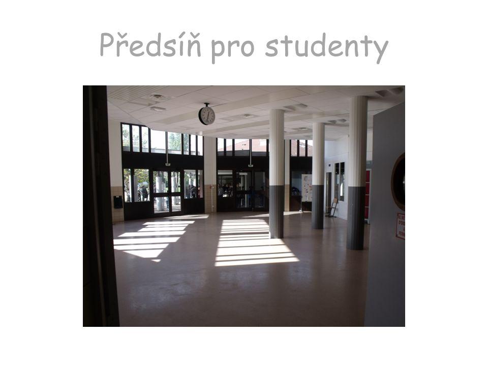 Předsíň pro studenty