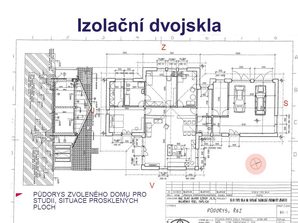 Izolační dvojskla Výpočet proveden ve schváleném programu PENB+ENB+TOB+Obálka budovy od firmy PROTECH s.r.o používaném v rámci programu SFŽP Zelená úsporám.