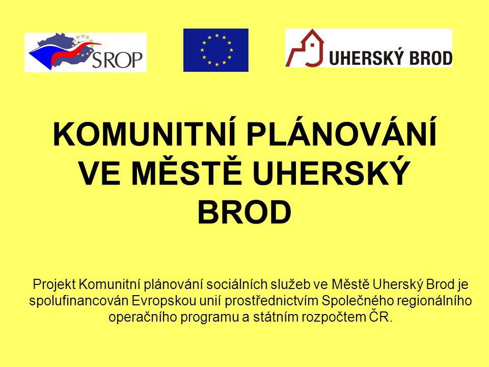 KOMUNITNÍ PLÁNOVÁNÍ VE MĚSTĚ UHERSKÝ BROD Projekt Komunitní plánování sociálních služeb ve Městě Uherský Brod je spolufinancován Evropskou unií prostř