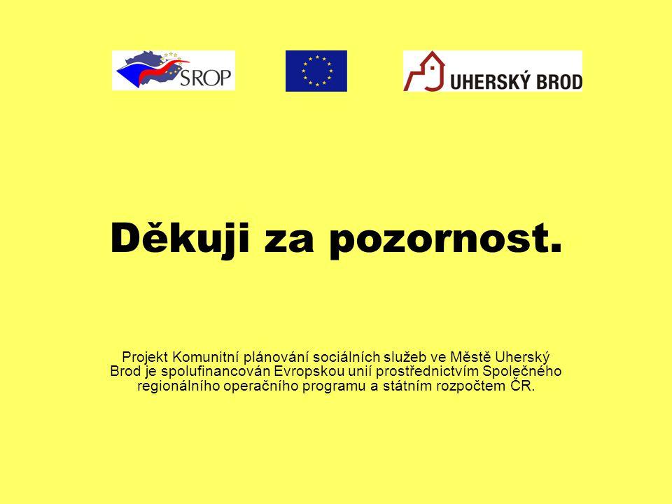 Děkuji za pozornost. Projekt Komunitní plánování sociálních služeb ve Městě Uherský Brod je spolufinancován Evropskou unií prostřednictvím Společného