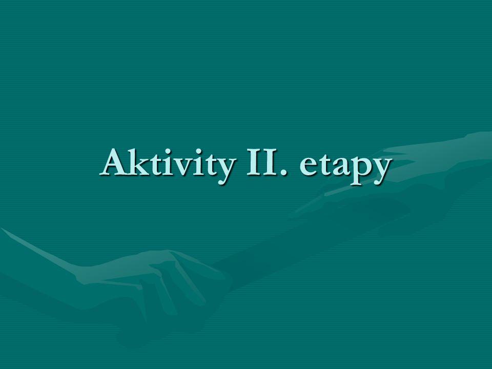 Aktivity II. etapy