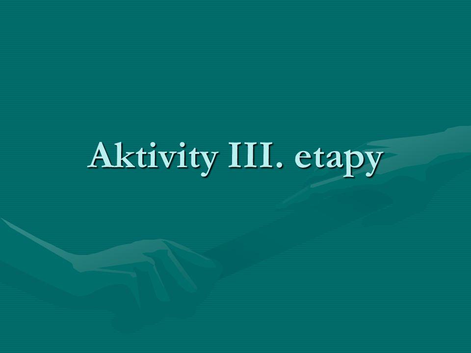 Aktivity III. etapy