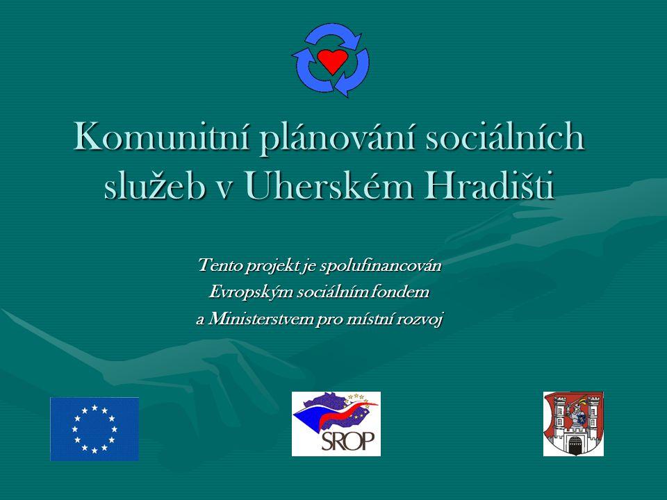 Komunitní plánování sociálních slu ž eb v Uherském Hradišti Tento projekt je spolufinancován Evropským sociálním fondem a Ministerstvem pro místní rozvoj