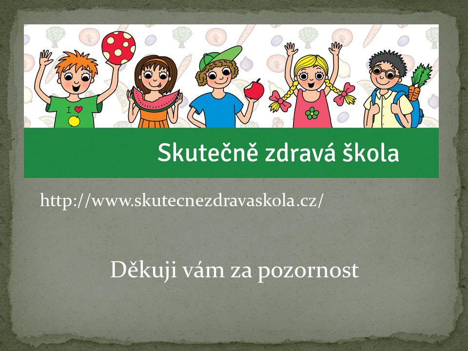 http://www.skutecnezdravaskola.cz/ Děkuji vám za pozornost