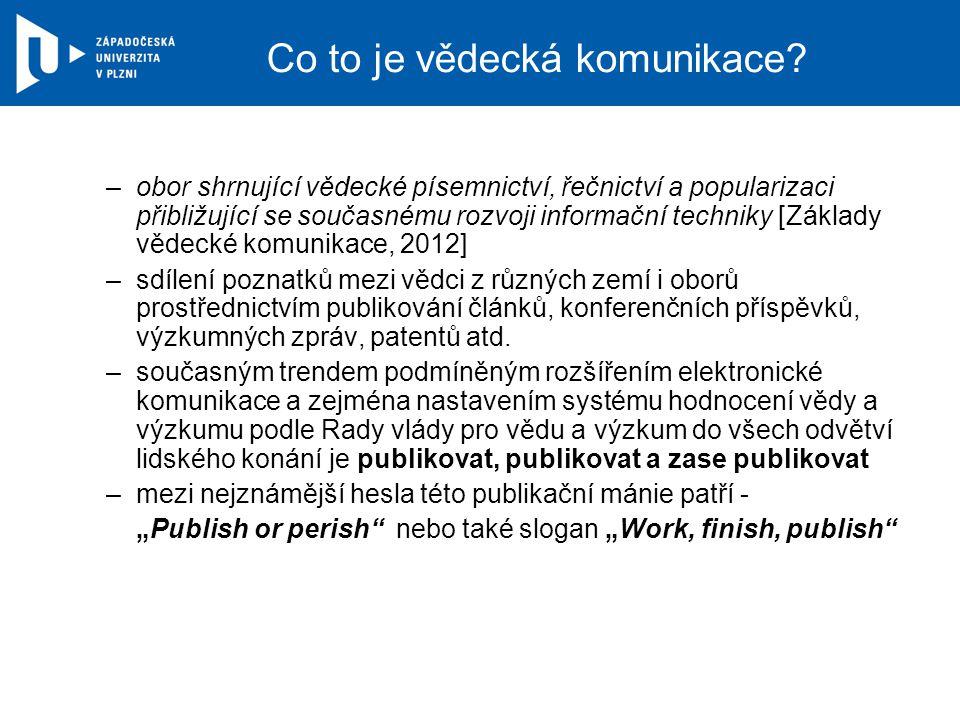 Politiky vydavatelů vydavatelská politika OA.