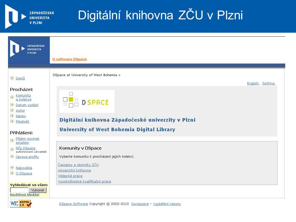 Digitální knihovna ZČU v Plzni
