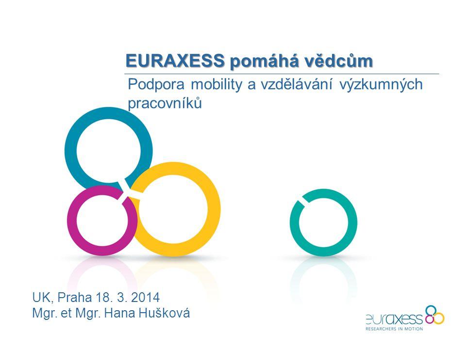 EURAXESS pomáhá vědcům Podpora mobility a vzdělávání výzkumných pracovníků UK, Praha 18.
