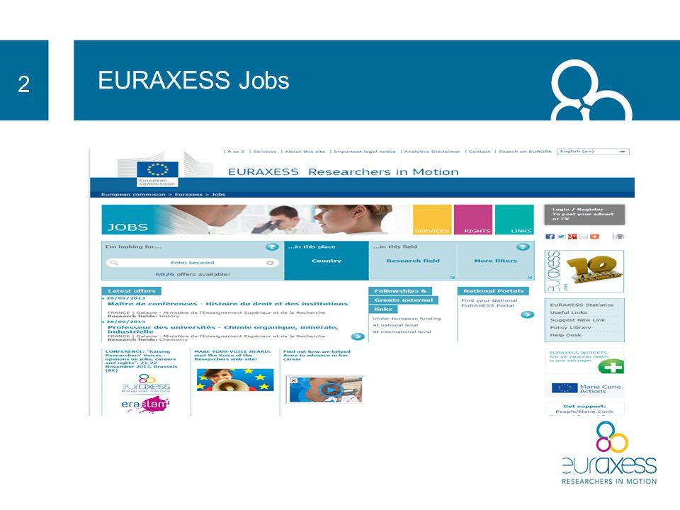 EURAXESS Services 3 400 400 servisních center ve 40 zemích Evropy cca 190 000 cca 12 000 cca 190 000 dotazů v 2013 (cca 12 000 v ČR) 39 39 národních portálů online víza Jazykové kurzy pracovní povolení Zdravotní pojištění Sociální zabezpečení ubytování daně