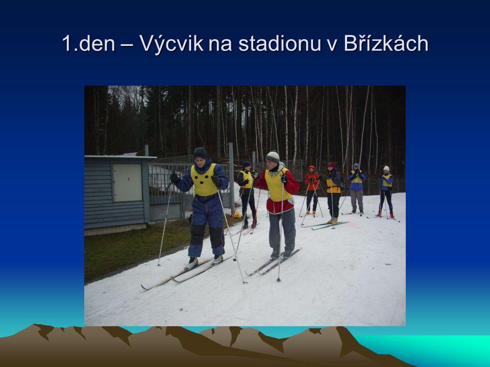 1.den – Výcvik na stadionu v Břízkách