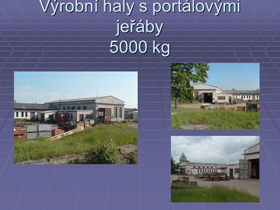 Výrobní haly s portálovými jeřáby 5000 kg