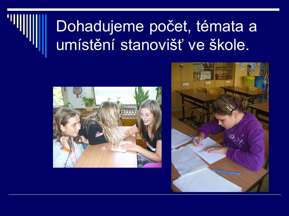 Dohadujeme počet, témata a umístění stanovišť ve škole.