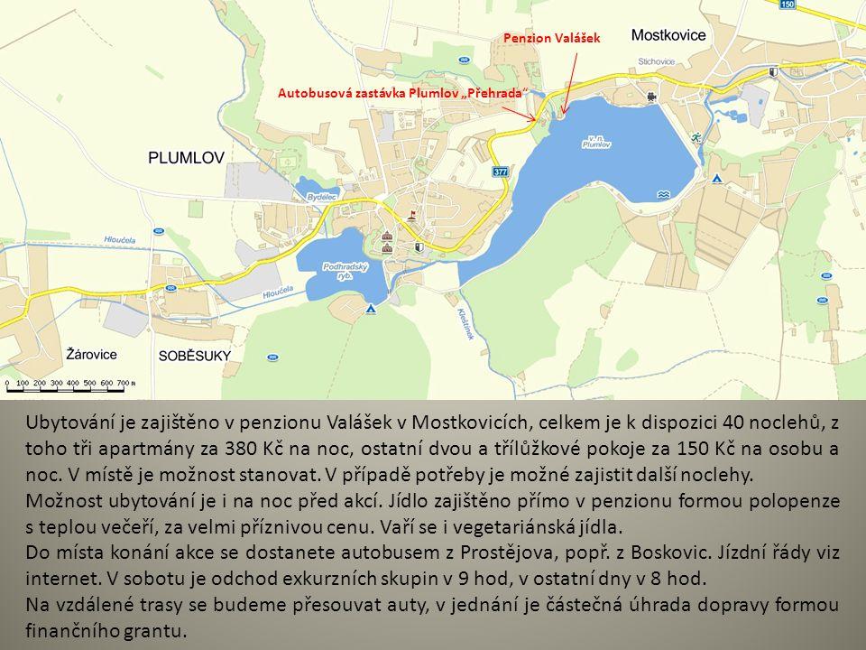 """Autobusová zastávka Plumlov """"Přehrada"""" Penzion Valášek Ubytování je zajištěno v penzionu Valášek v Mostkovicích, celkem je k dispozici 40 noclehů, z t"""