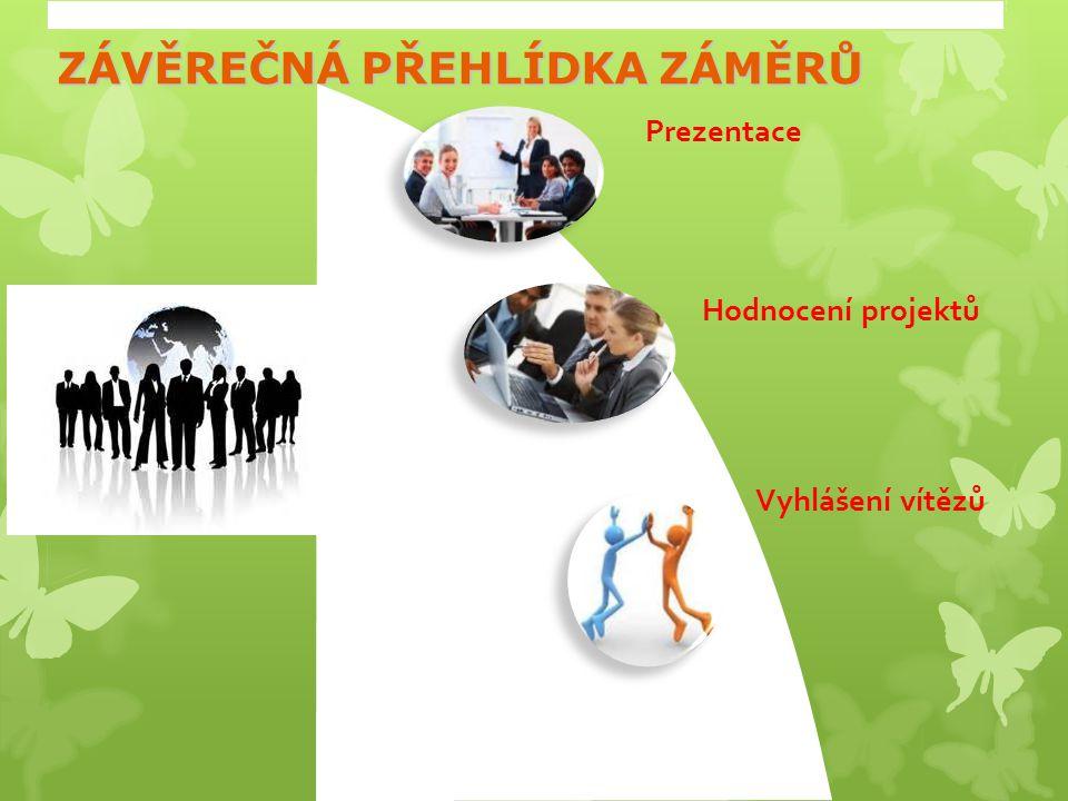 ZÁVĚREČNÁ PŘEHLÍDKA ZÁMĚRŮ Prezentace Hodnocení projektů Vyhlášení vítězů