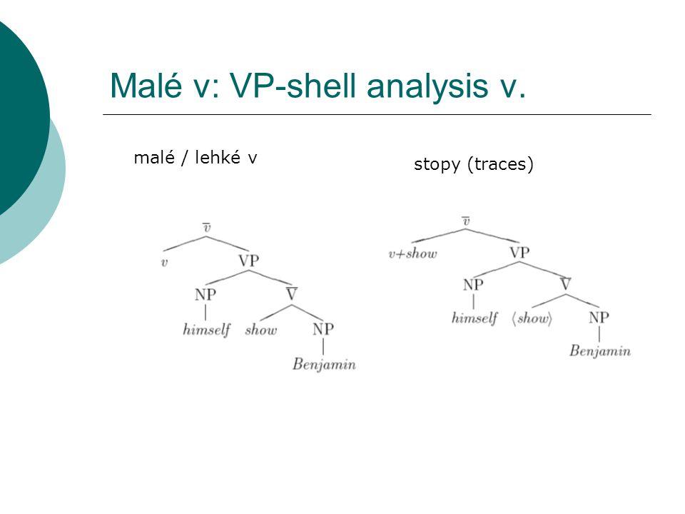 Malé v: VP-shell analysis v. malé / lehké v stopy (traces)