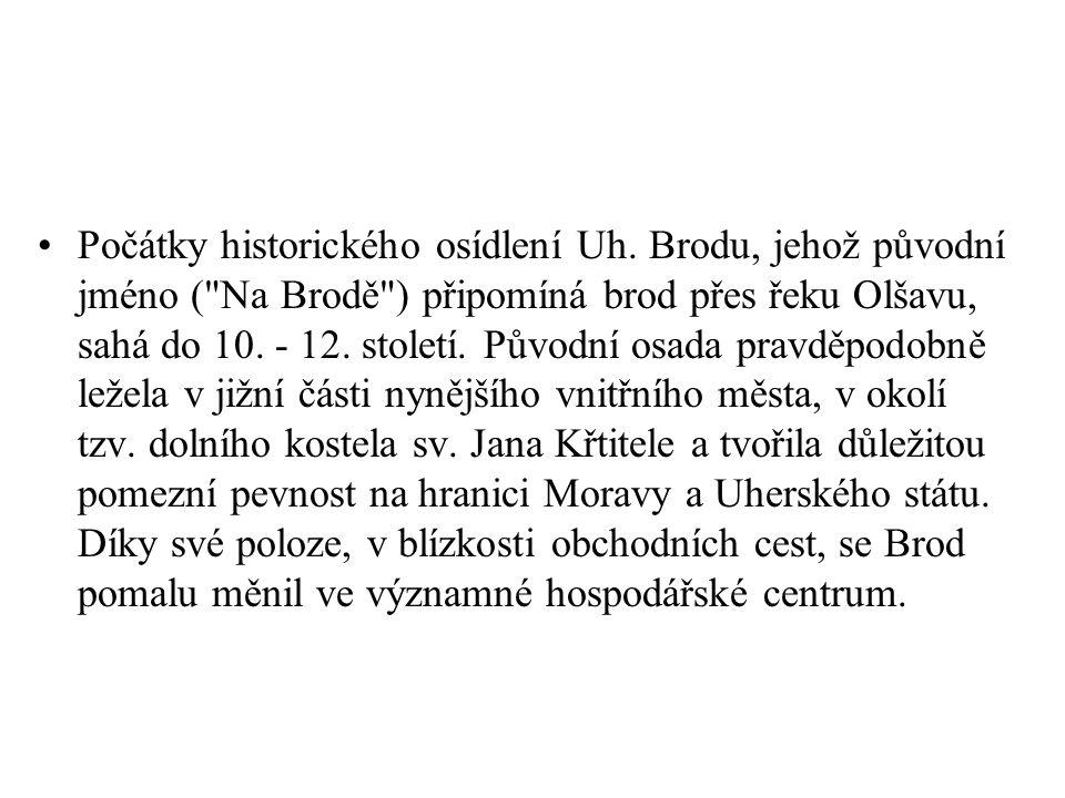 Počátky historického osídlení Uh. Brodu, jehož původní jméno (