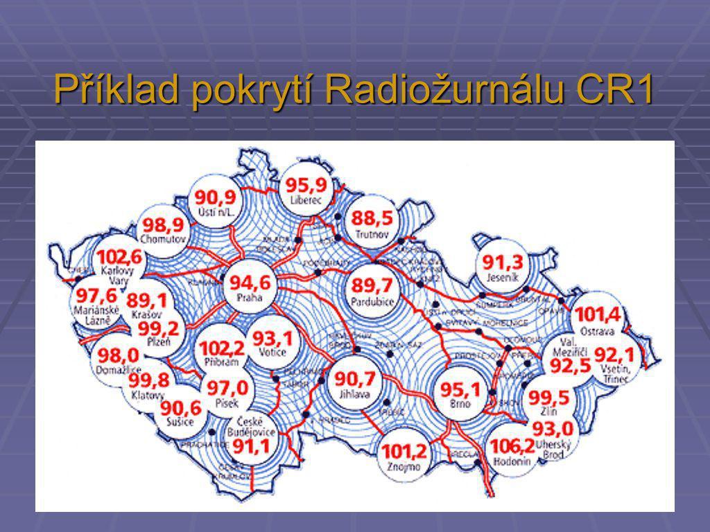 Příklad pokrytí Radiožurnálu CR1