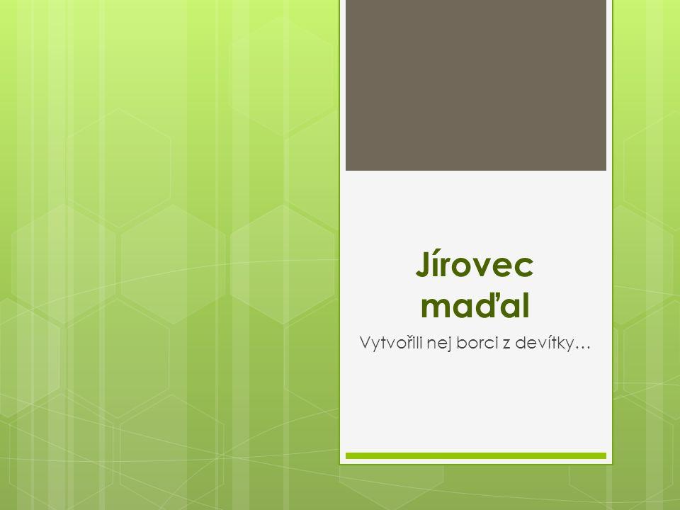 Jírovec maďal Vytvořili nej borci z devítky…