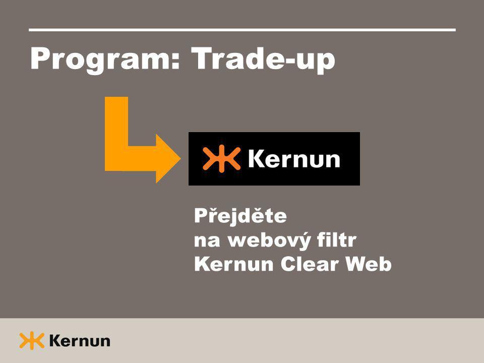 Program: Trade-up Přejděte na webový filtr Kernun Clear Web