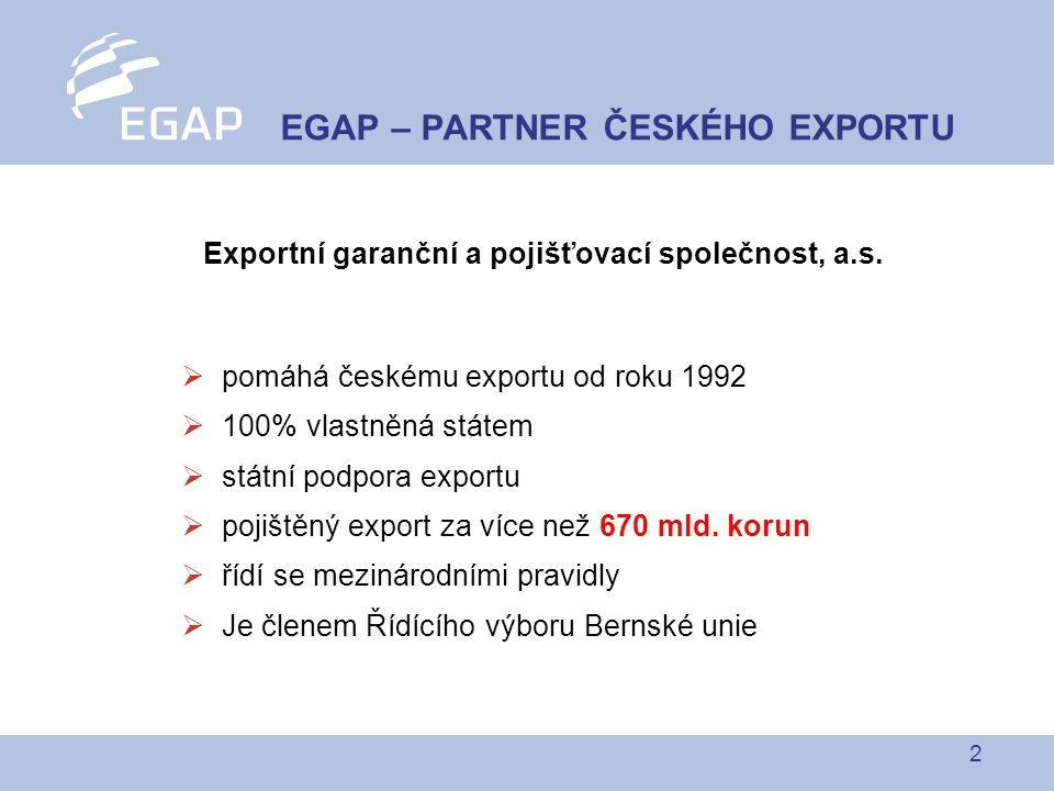 2 Exportní garanční a pojišťovací společnost, a.s.
