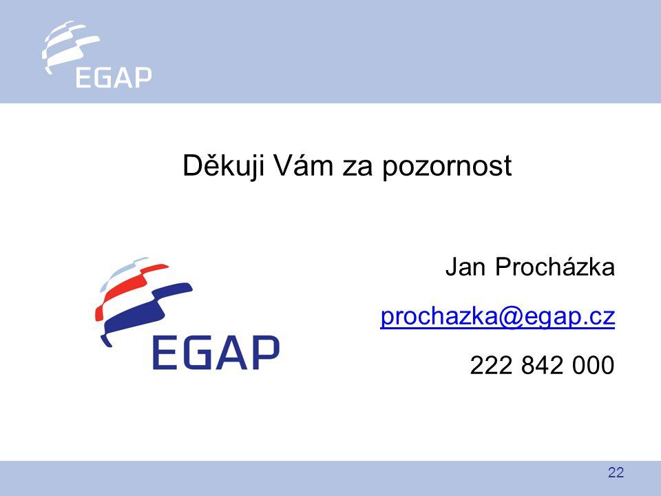 22 Děkuji Vám za pozornost Jan Procházka prochazka@egap.cz 222 842 000