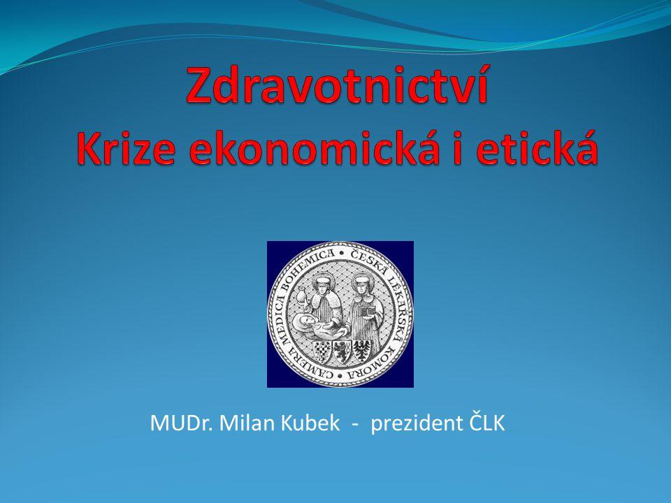 Průměrná mzda v ČR mírně roste MUDr. Milan Kubek - prezident ČLK12