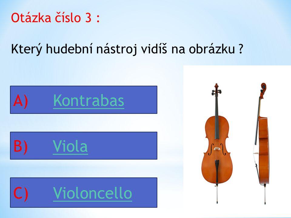 Otázka číslo 3 : Který hudební nástroj vidíš na obrázku .