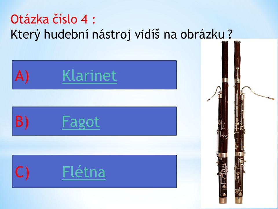 Otázka číslo 4 : Který hudební nástroj vidíš na obrázku .