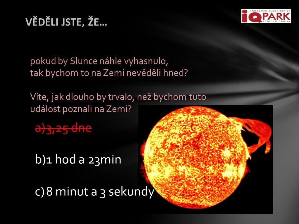 VĚDĚLI JSTE, ŽE… pokud by Slunce náhle vyhasnulo, tak bychom to na Zemi nevěděli hned.