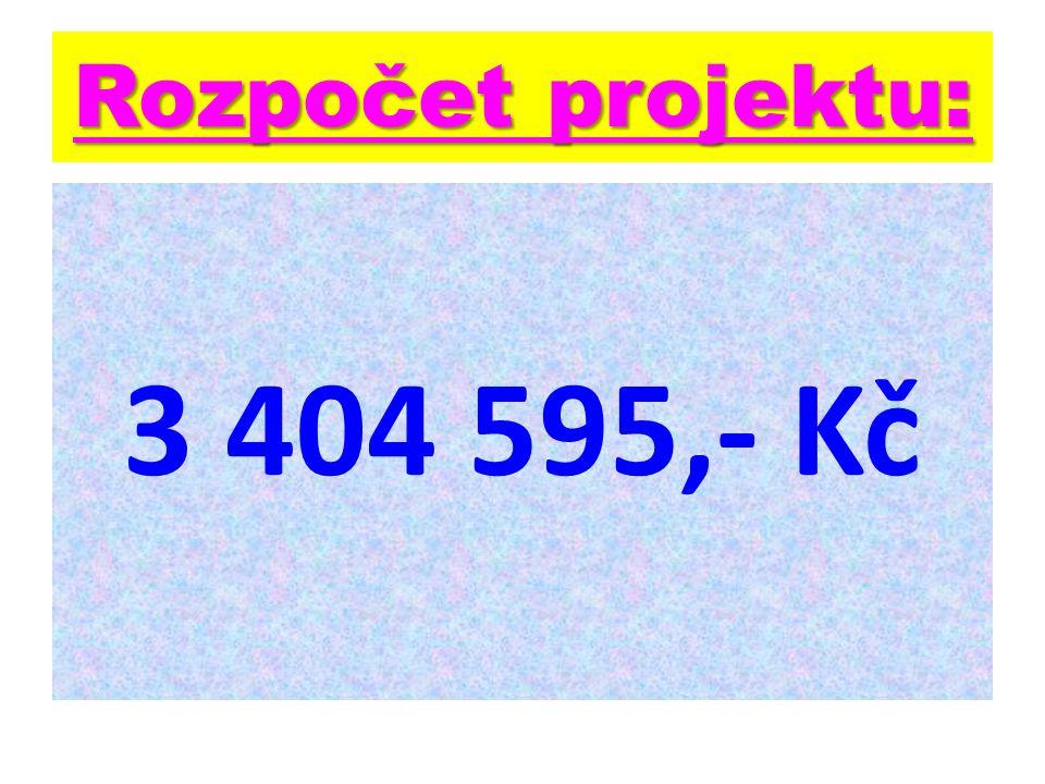 Rozpočet projektu: 3 404 595,- Kč