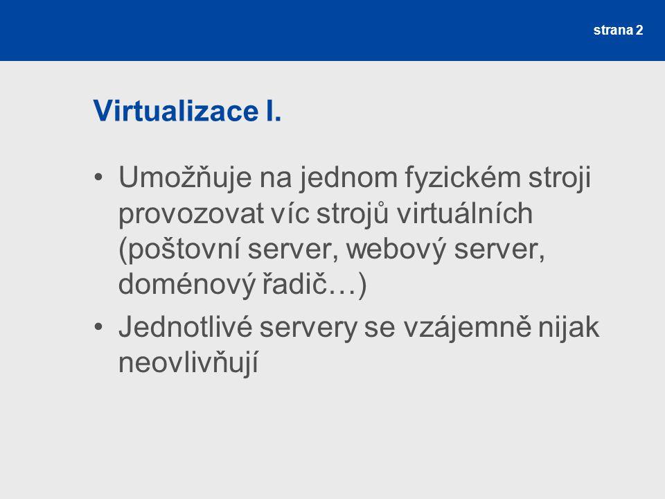 strana 2 Virtualizace I.