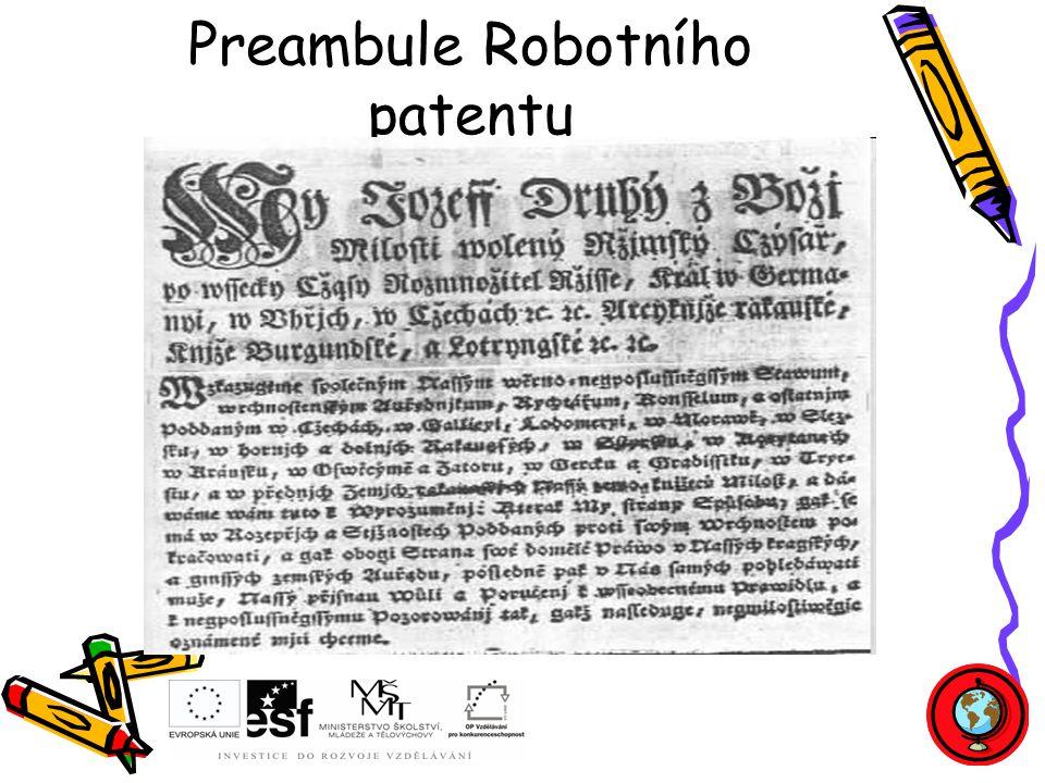 Preambule Robotního patentu