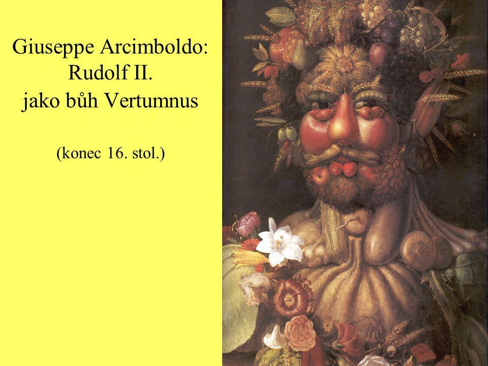 """Z Comaniniho latinské básně k obrazu: """"Podobně tak jako učení Egypťané věnoval nejvěrnější služebník Arcimboldo své srdce a dílo Tvé ozdobě a pokryl Tvou božskou tvář závojem."""