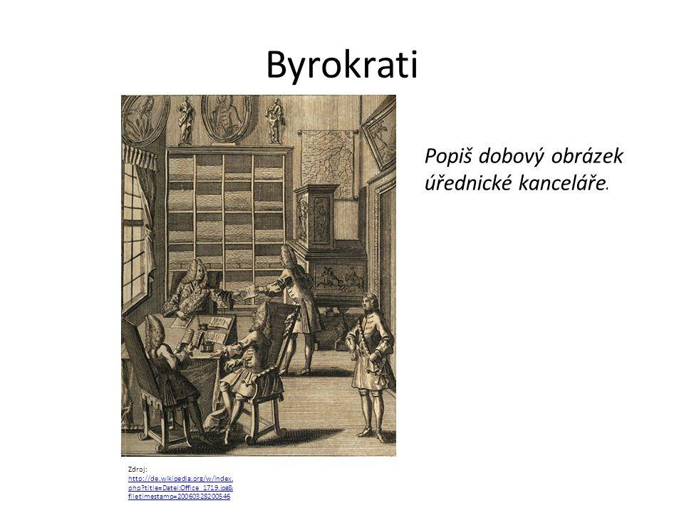 Byrokrati Zdroj: http://de.wikipedia.org/w/index. php?title=Datei:Office_1719.jpg& filetimestamp=20060328200546 http://de.wikipedia.org/w/index. php?t