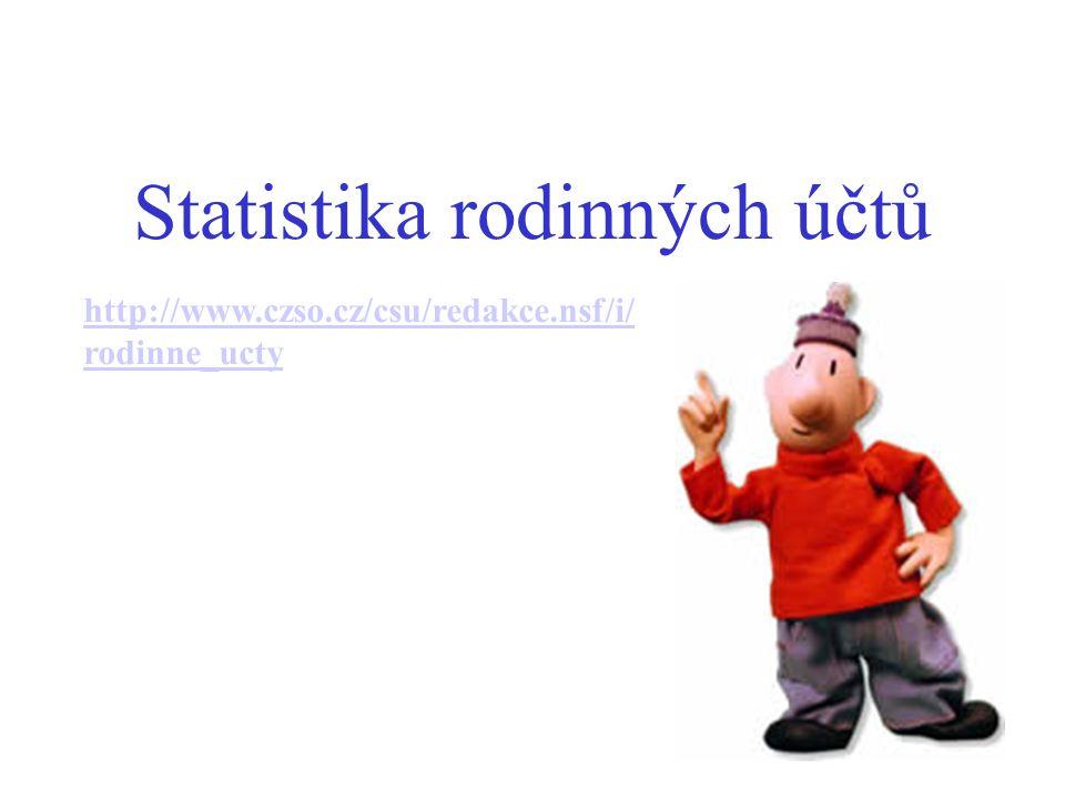 Statistika rodinných účtů http://www.czso.cz/csu/redakce.nsf/i/ rodinne_ucty