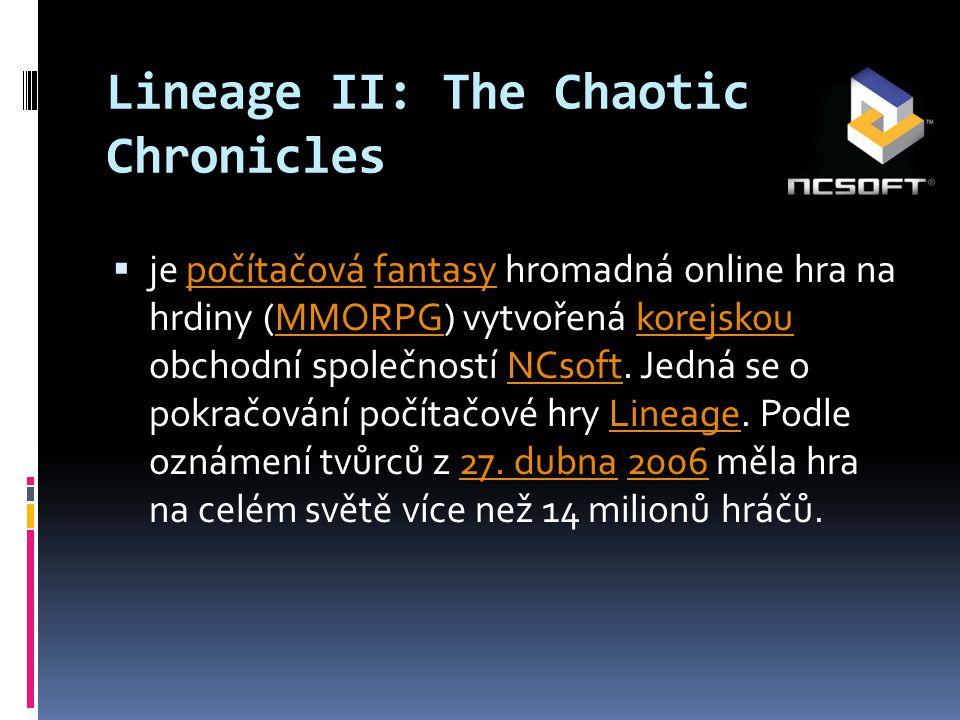 Základní charakteristika  Hráč si vytvoří vlastní postavu - charakter, s níž se pohybuje v prostředí virtuálního světa Aden a Elmore ve středověkém až fantasy stylu.