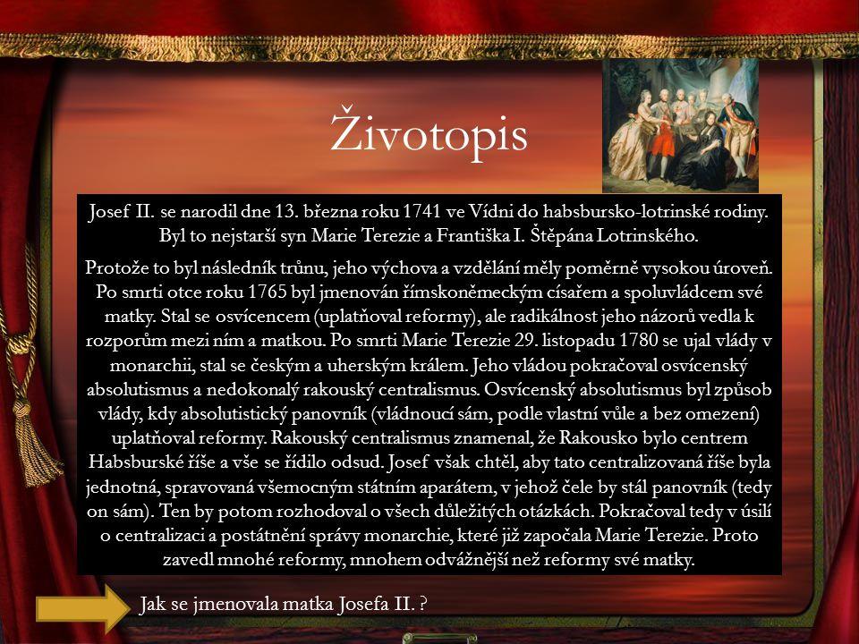 Reformy KULTURNÍ REFORMY Dne 13.10.roku 1781 vydal toleranční patent.