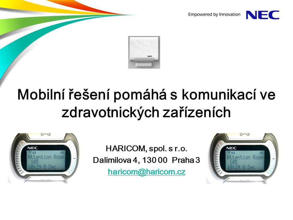 Mobilní řešení pomáhá s komunikací ve zdravotnických zařízeních HARICOM, spol.