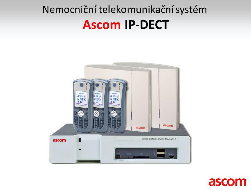 Nemocniční telekomunikační systém Ascom IP-DECT