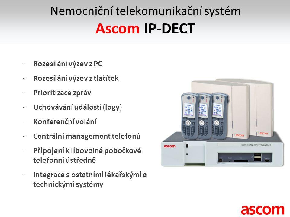-Rozesílání výzev z PC -Rozesílání výzev z tlačítek -Prioritizace zpráv -Uchovávání událostí (logy) -Konferenční volání -Centrální management telefonů