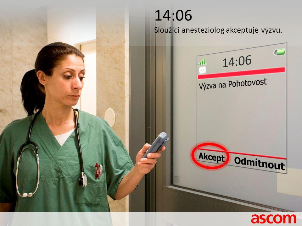 14:06 Sloužící anesteziolog akceptuje výzvu.