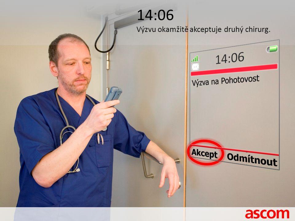 14:06 Výzvu okamžitě akceptuje druhý chirurg.