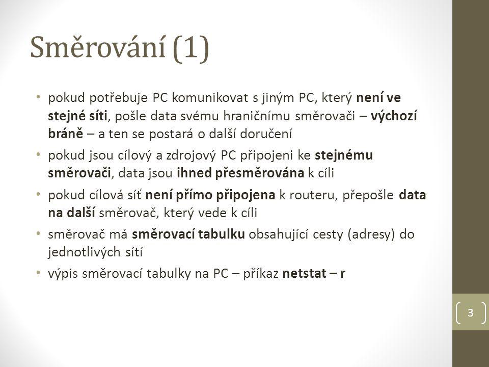 Směrování (2) 4 http://internet.vprdeli.com/view.php?cisloclanku=2006021902