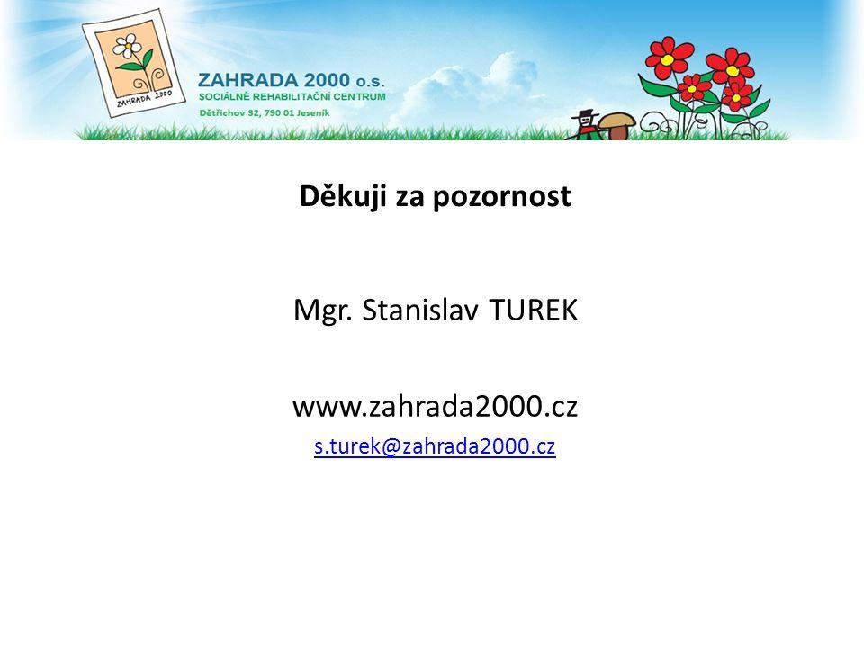 Děkuji za pozornost Mgr. Stanislav TUREK www.zahrada2000.cz s.turek@zahrada2000.cz