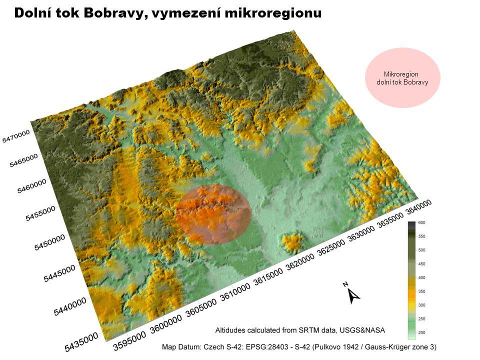 Dolní tok Bobravy, vymezení mikroregionu Mikroregion dolní tok Bobravy