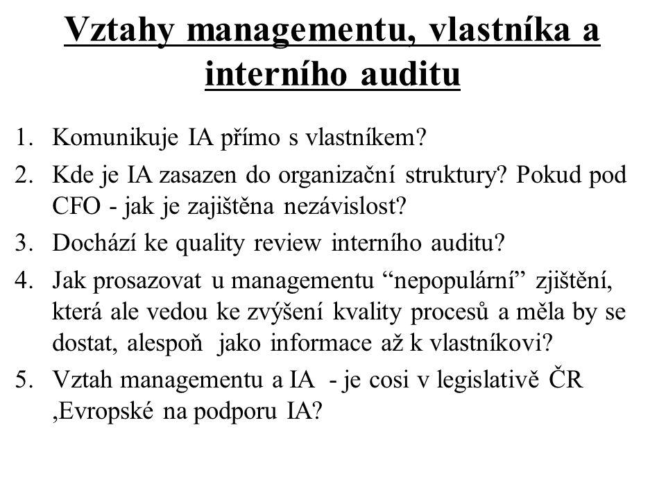 Vnitřní kontrolní systém a jeho audit (1) 1.Stručná charakteristika co je VKS, jak hodnotit účinnost a efektivnost VKS.
