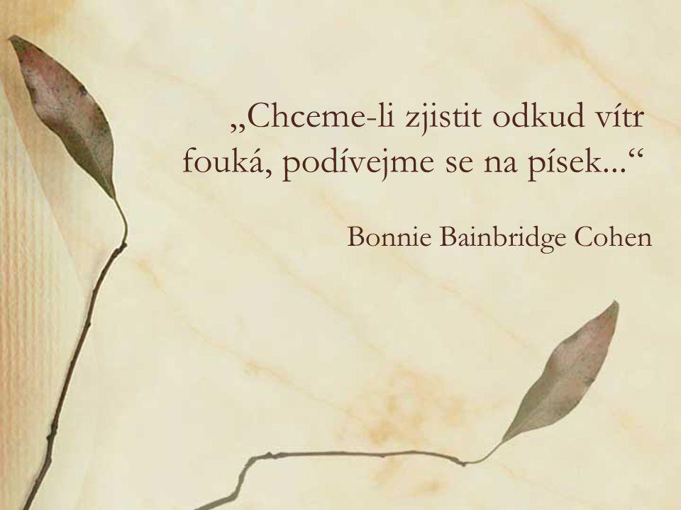 """""""Chceme-li zjistit odkud vítr fouká, podívejme se na písek..."""" Bonnie Bainbridge Cohen"""
