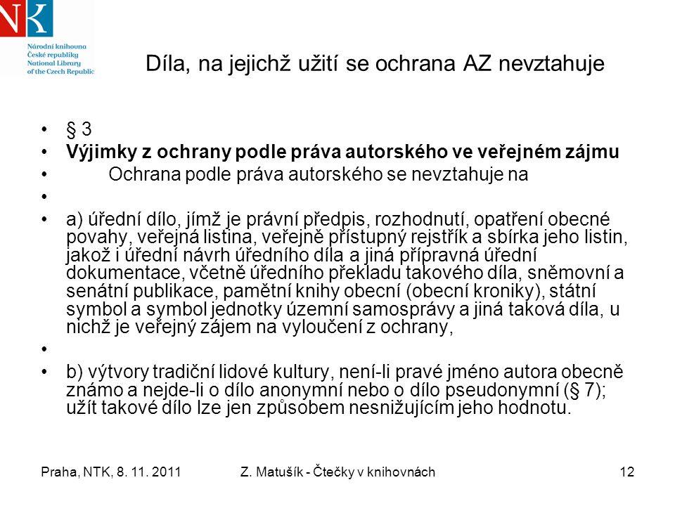 Praha, NTK, 8. 11. 2011Z.