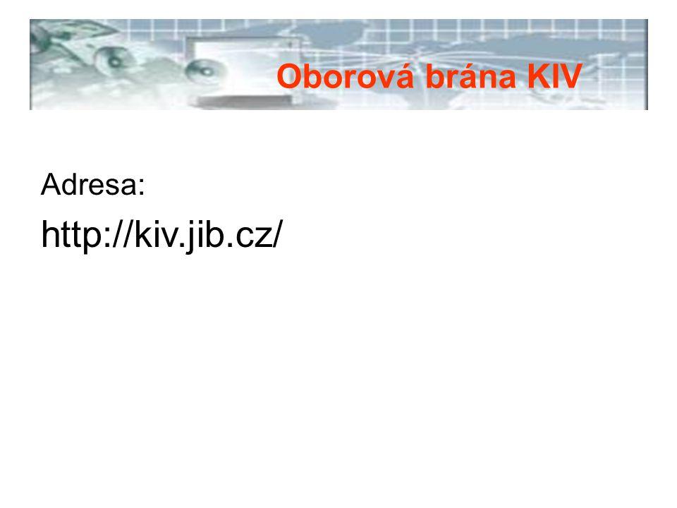 Zdroje pro Vyhledávač KIV: Oborové databáze.