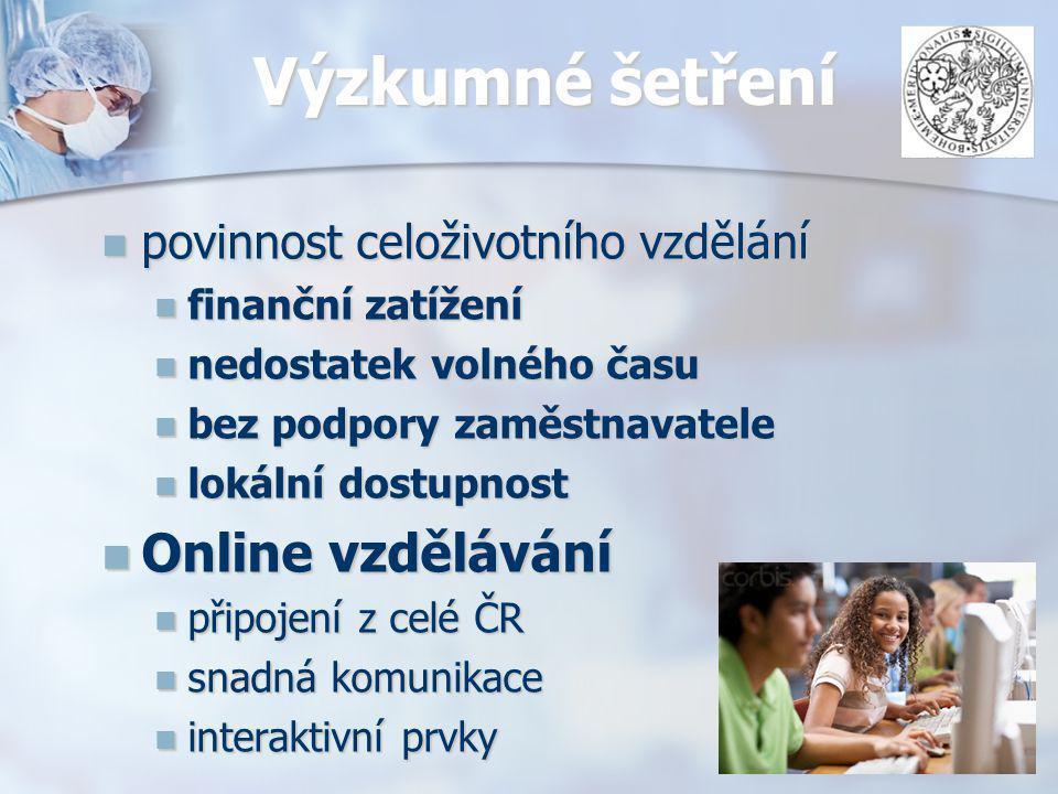 ANKETA- Seppia 184 respondentů 184 respondentů Zastoupeni ze všech krajů ČR Zastoupeni ze všech krajů ČR nejpřijatelnější forma vzdělávání 48% pasivní účast nejpřijatelnější forma vzdělávání 48% pasivní účast 92% respondentů má zájem vyzkoušet online výuku 92% respondentů má zájem vyzkoušet online výuku Faktory ovlivňující výběr Faktory ovlivňující výběr místo konání místo konání finanční dostupnost finanční dostupnost
